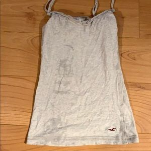 Hollister tank top with built in bra
